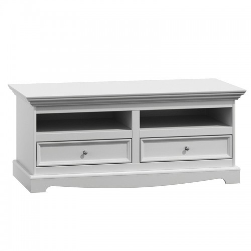 Biely nábytok TV komoda Belluno Elegante, biela, masív, borovica
