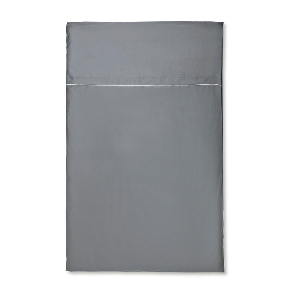 Sivé obliečky z bavlneného saténu Casa Di Bassi Basic, 135×200 cm