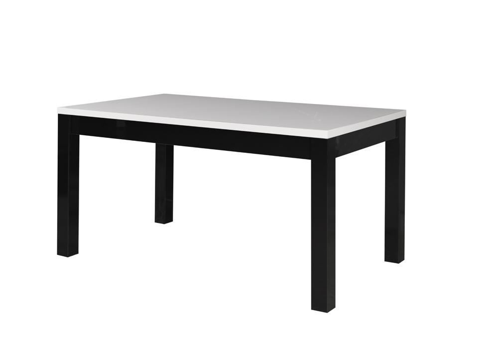 Jedálensky stôl Fabio 05   Farba: biely lesk / čierny lesk