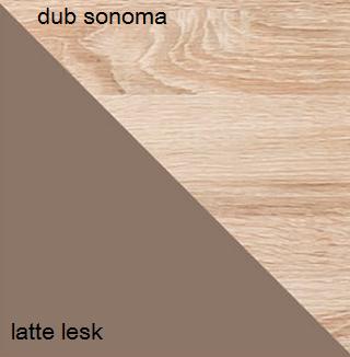 Rohová skriňa CARMELO C7   Farba: Dub sonoma / latte lesk