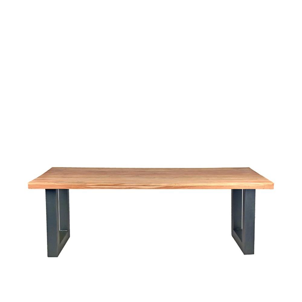 Jedálenská stôl s doskou z akáciového dreva LABEL51 Milaan, 200 x 95 cm