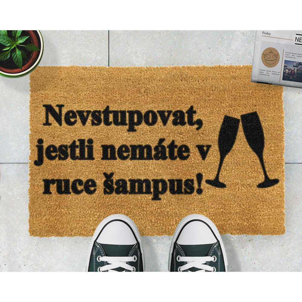 Rohožka Artsy Doormats Šampus, 40x60cm