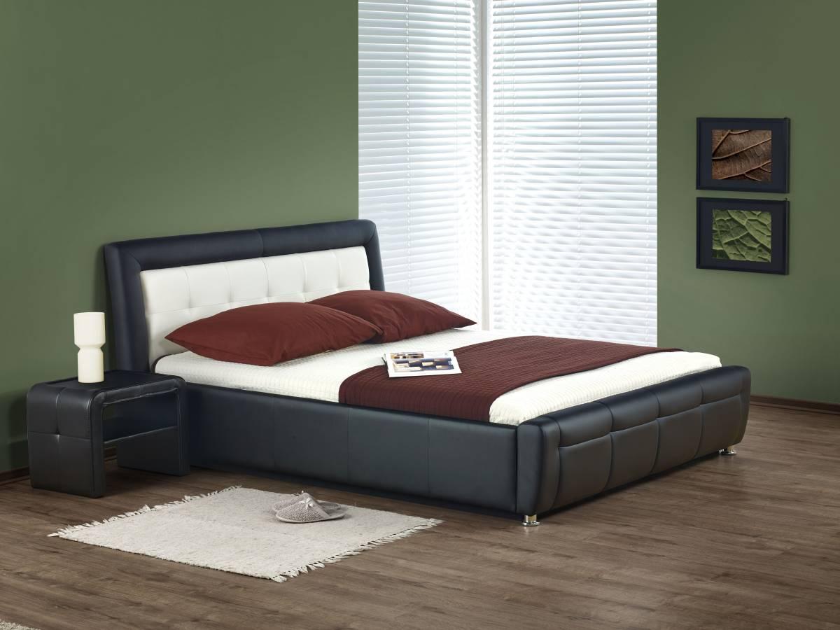 Manželská posteľ 160 cm SAMANTA P (s roštom a úložným priestorom)