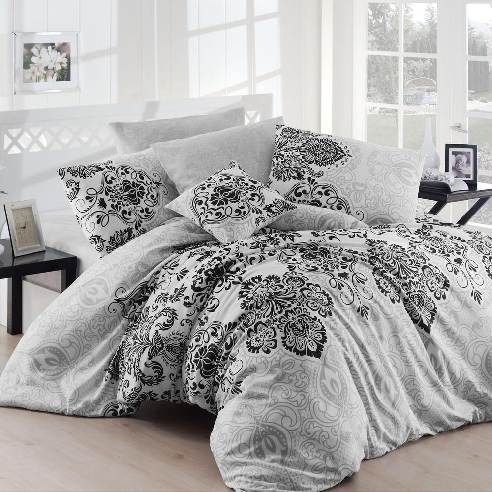 Obliečky s plachtou Luxury Grey, 200x220cm