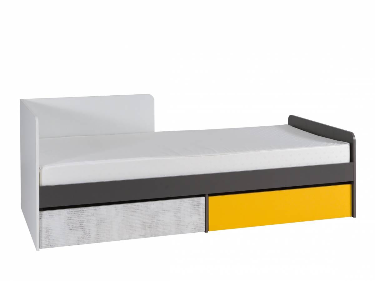 Jednolôžková posteľ 90 cm B7 (s roštom, matracom a úl. priestorom) (L)