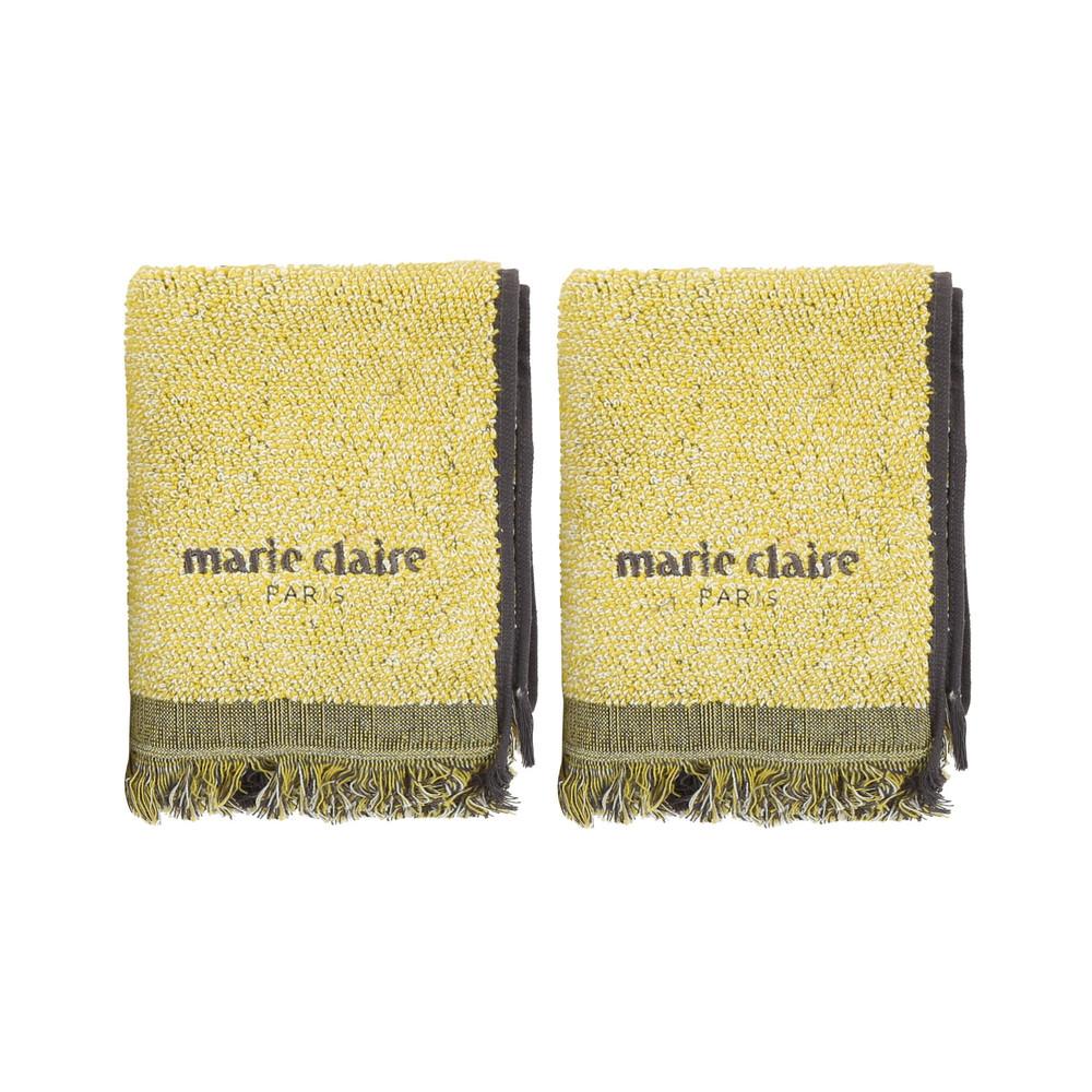 Sada 2 žltých uterákov Marie Claire Colza, 40x60cm