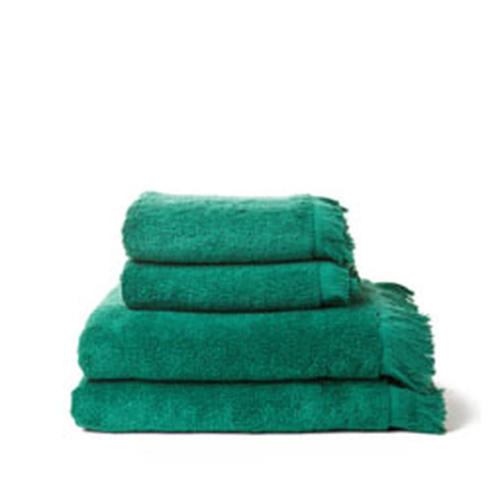 Sada 4 zelených bavlnených uterákov a osušiek Casa Di Bassi Bath