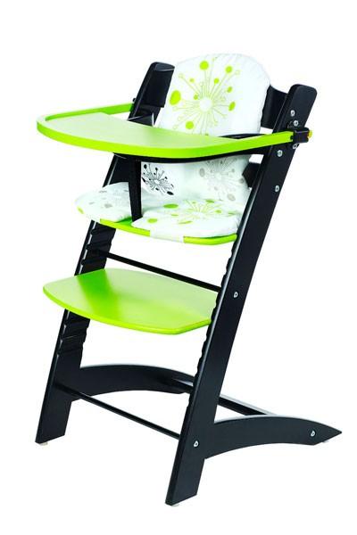 Bradop Stolička detská rastúci čierno / zelená Z522