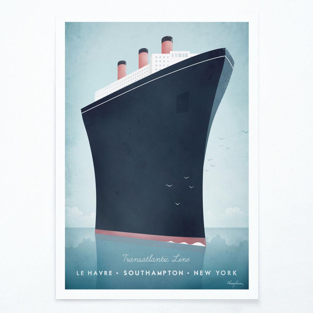 Plagát Travelposter Cruise Ship, A2