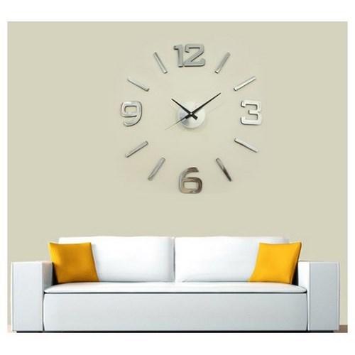 Nástenné hodiny strieborná, priemer 60 cm,
