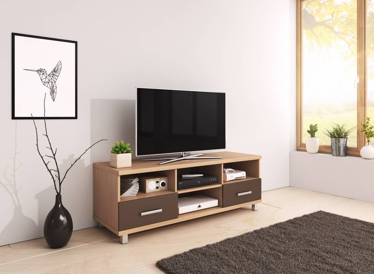 TV stolík Classic veľký (javor + amari)