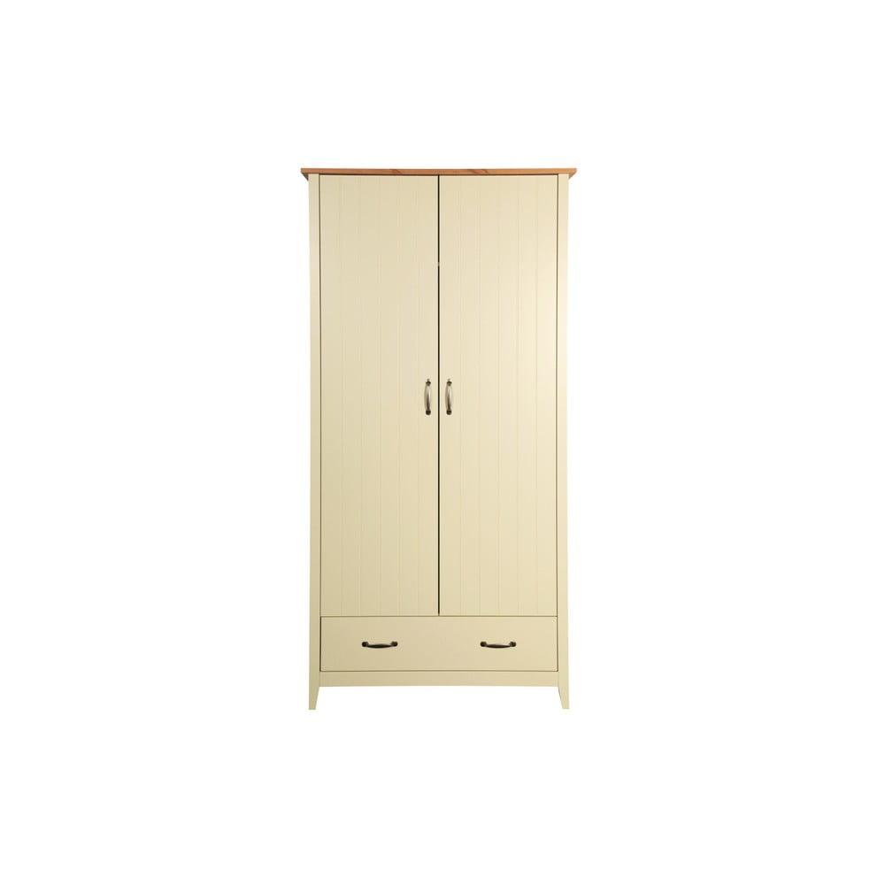 Krémová šatníková skriňa Steens Norfolk, 192 × 99 cm
