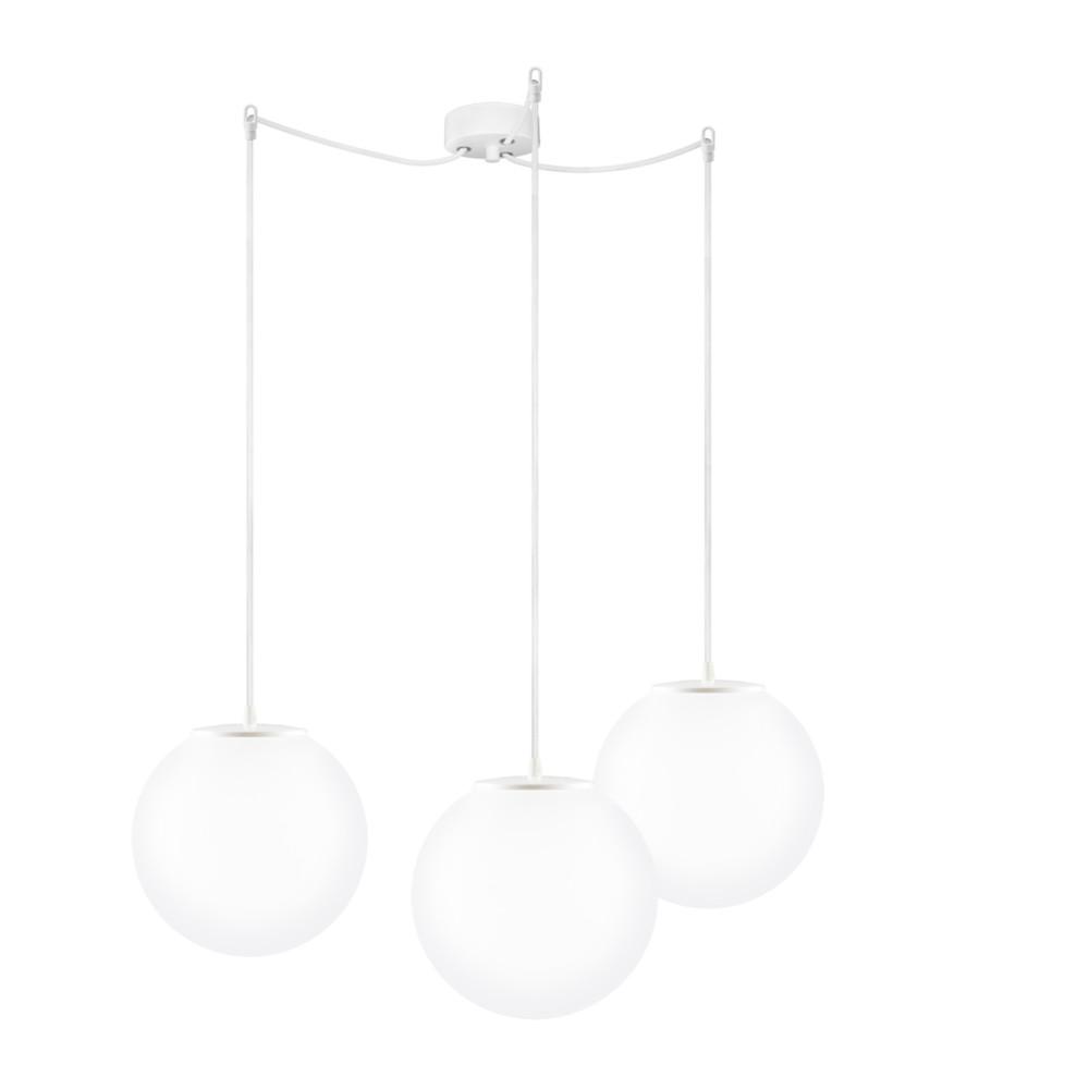 Biele trojité závesné svietidlo Sotto Luce Tsuki