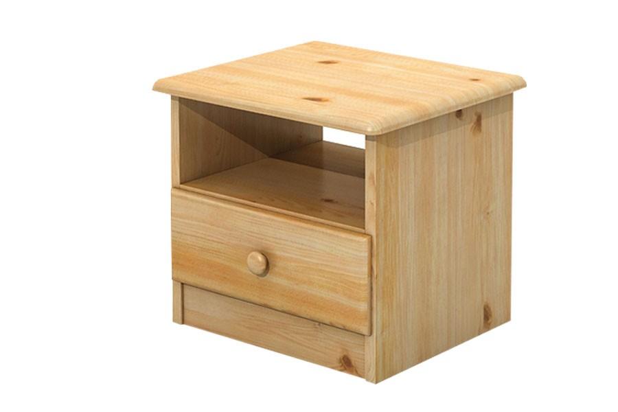 Bradop Nočný stolík, masív borovica B018
