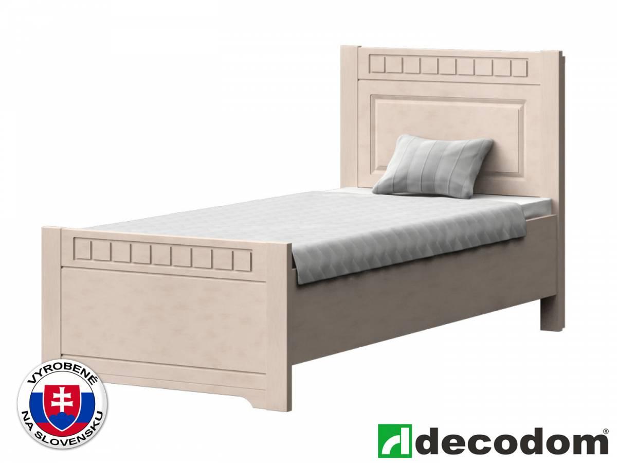 Jednolôžková posteľ 90 cm Decodom Lirot Typ P-90 (vanilka patina)