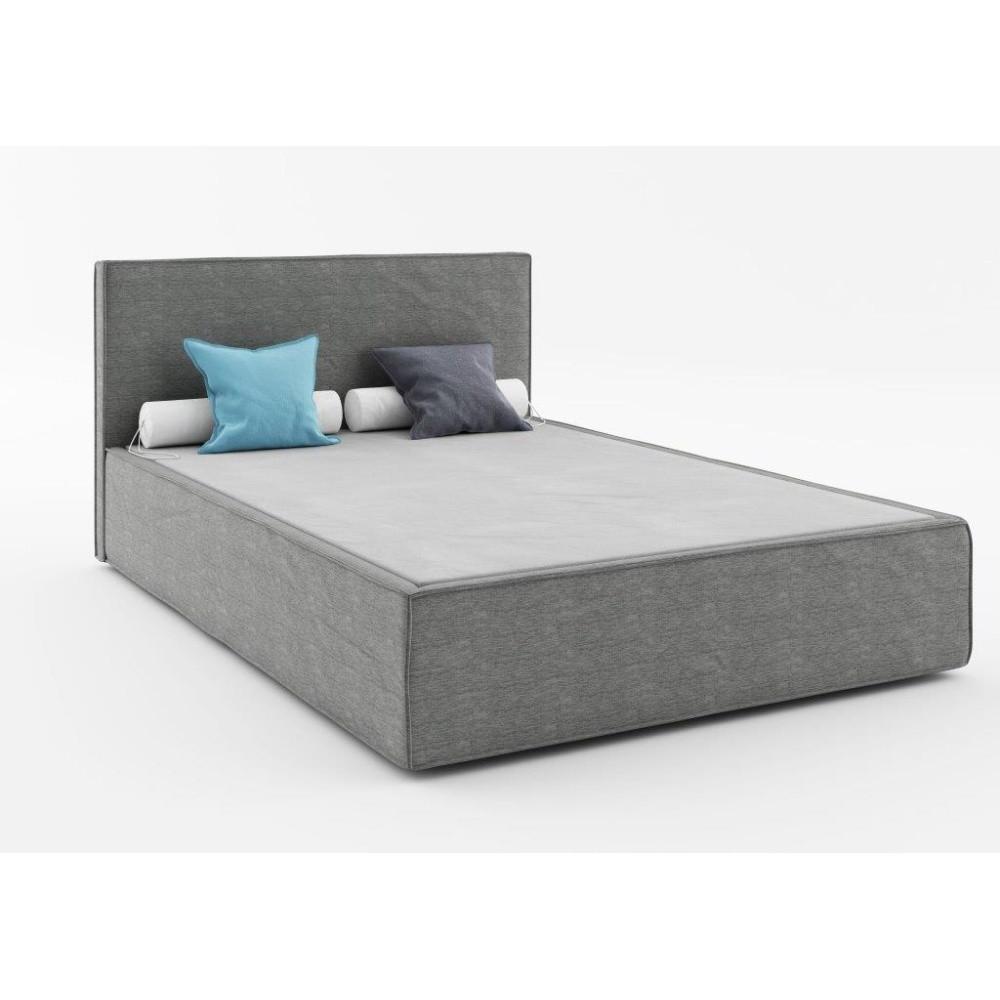 Tmavosivá dvojlôžková posteľ Absynth Mio Soft, 140x200cm