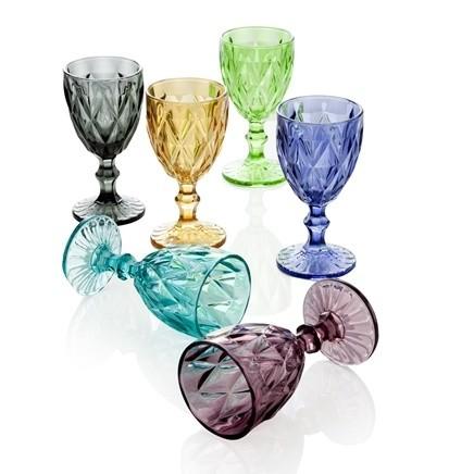Sada 6 pohárov Diamante Goblet