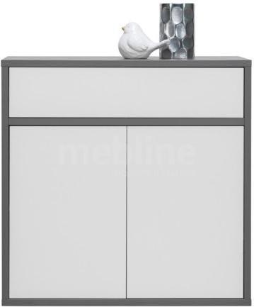 Komoda, DTD laminovaná, sivá grafit/biela, MARSIE