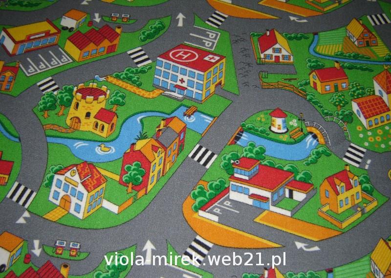 WITEK Detský metrážny koberec Autostráda sivý od 400x100cm