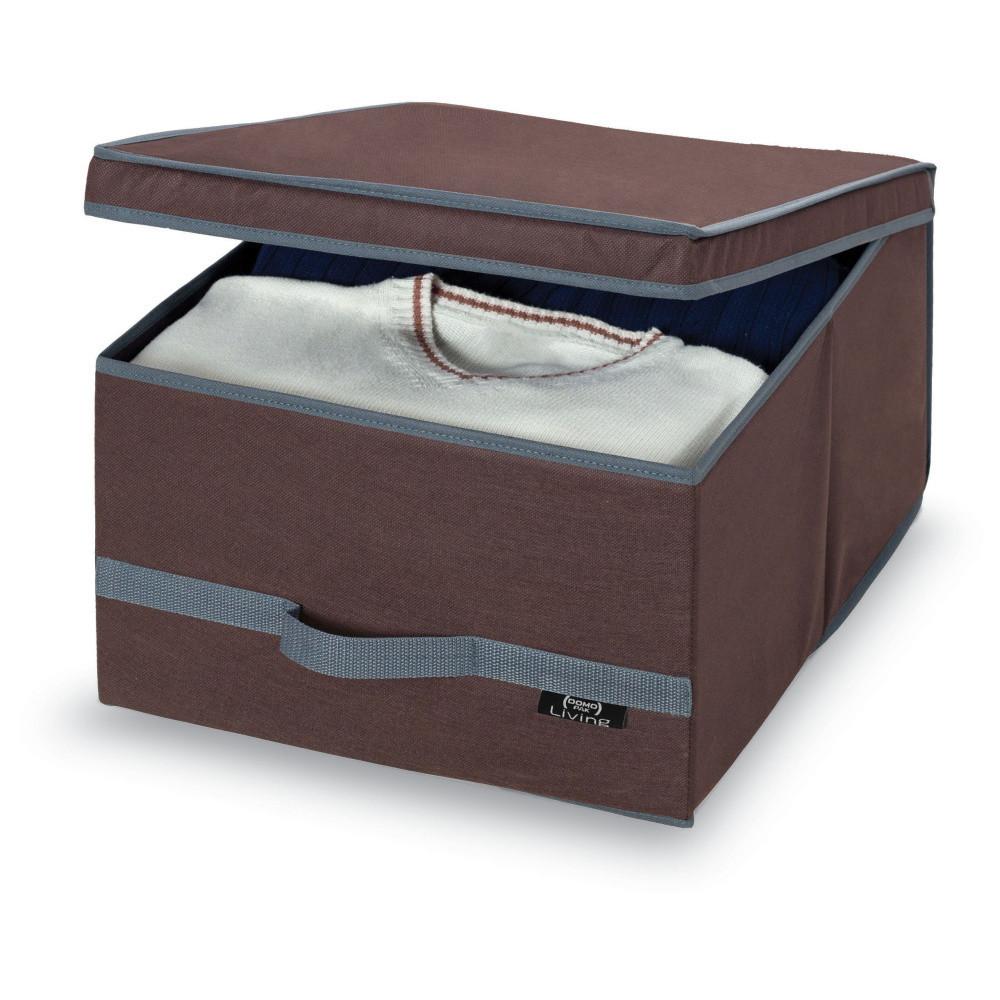 Hnedý úložný box Domopak Living, veľký