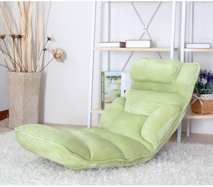 Relaxačné kreslo, látka zelená, LOTA