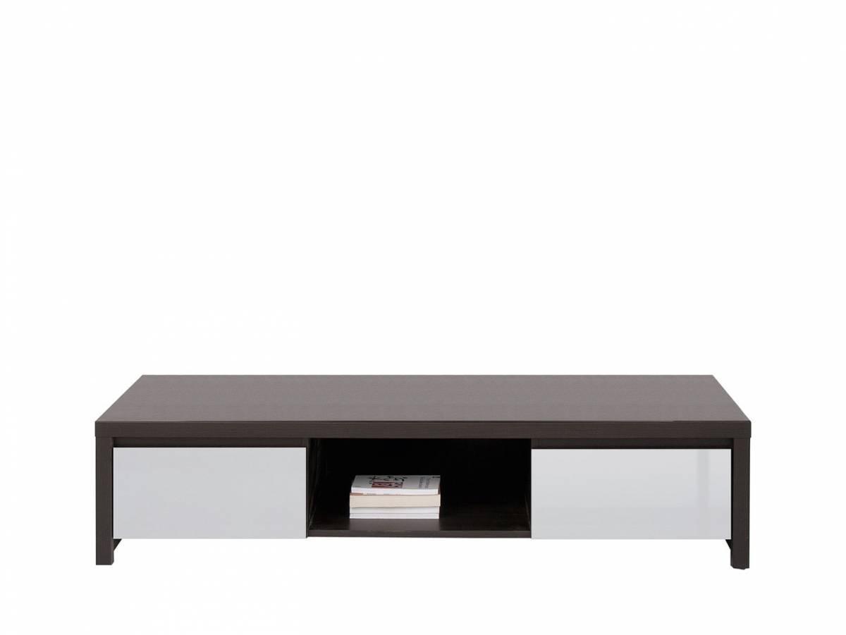 TV stolík Kaspian RTV2S (wenge + vysoký lesk sivý)