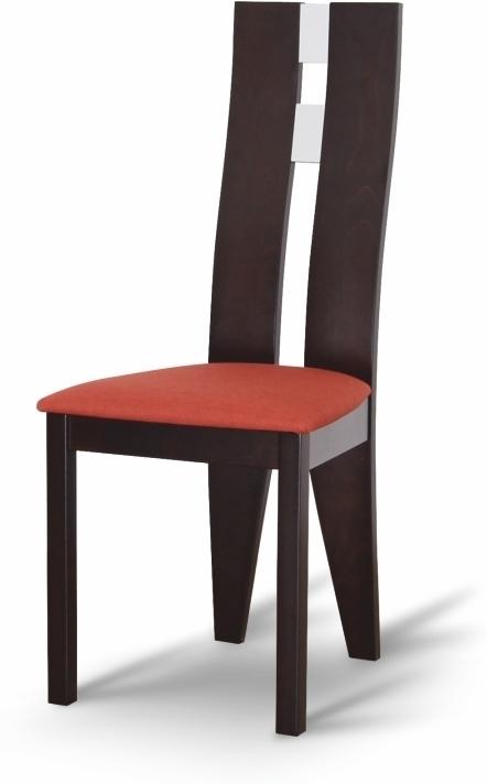 Drevená stolička, wenge/látka terakota, BONA