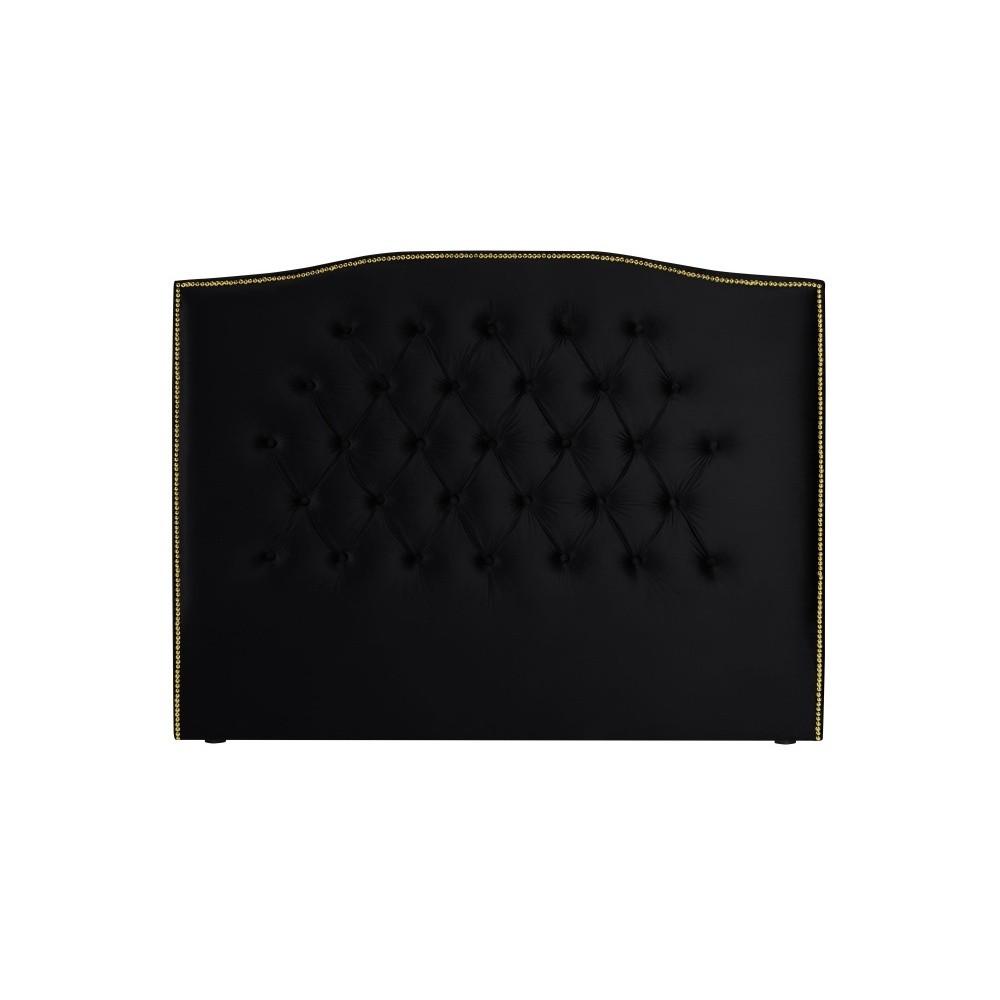 Čierne čelo postele Mazzini Sofas Anette, 200 × 120 cm