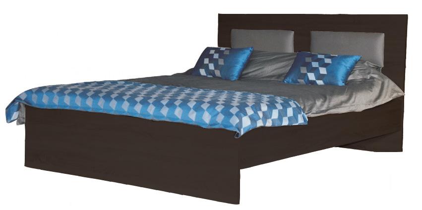 VISLA manželská posteľ 145 wenge, látka na výber