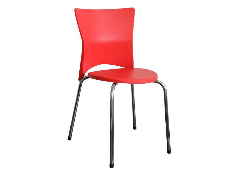 Jedálenská stolička Brisa (červená + chróm)
