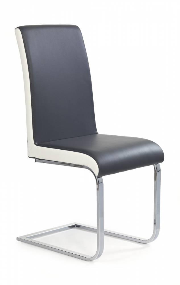 Jedálenská stolička K103 šedá + biela