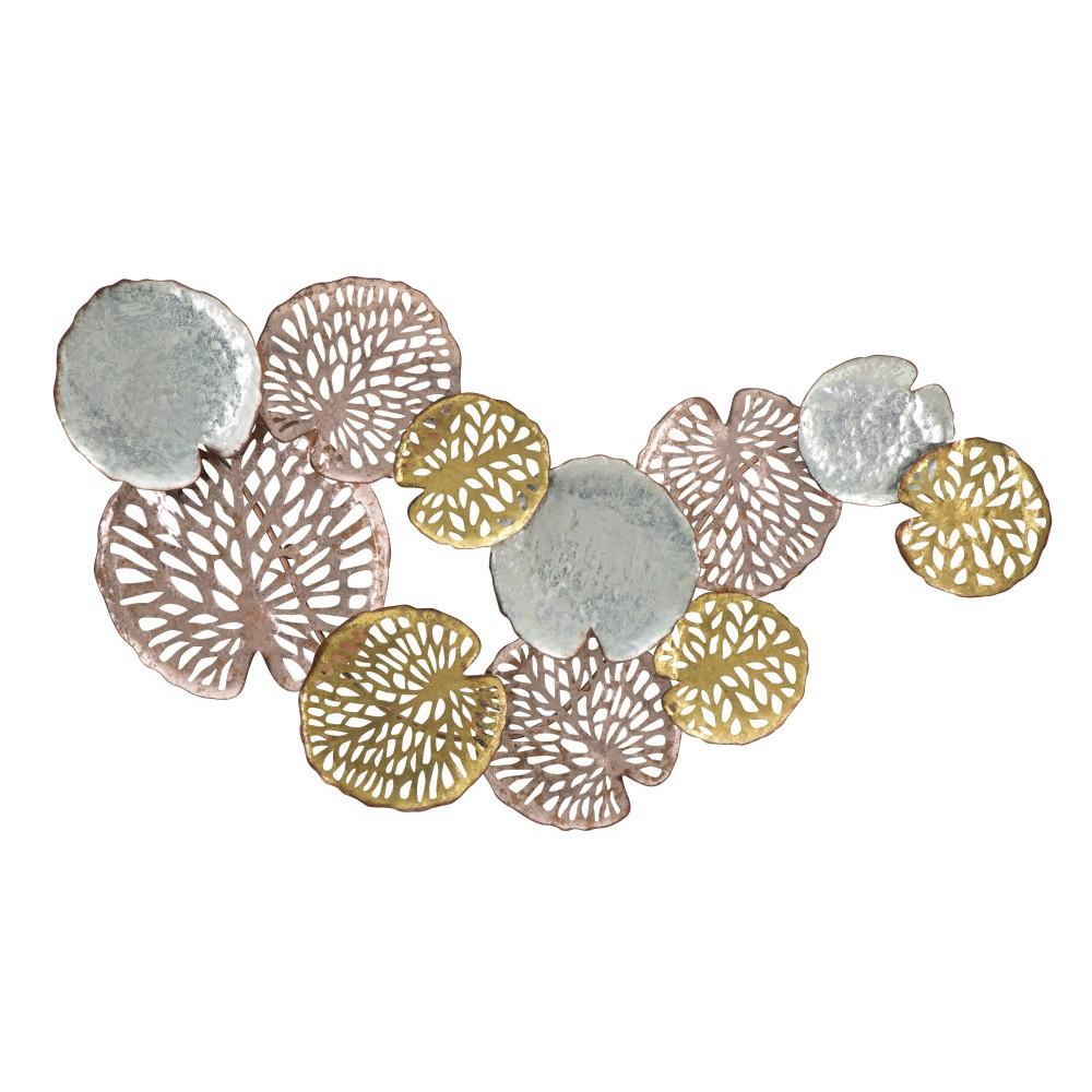 Nástenná dekorácia v striebornej a zlatej farbe Mauro Ferreti Lotus Leaf