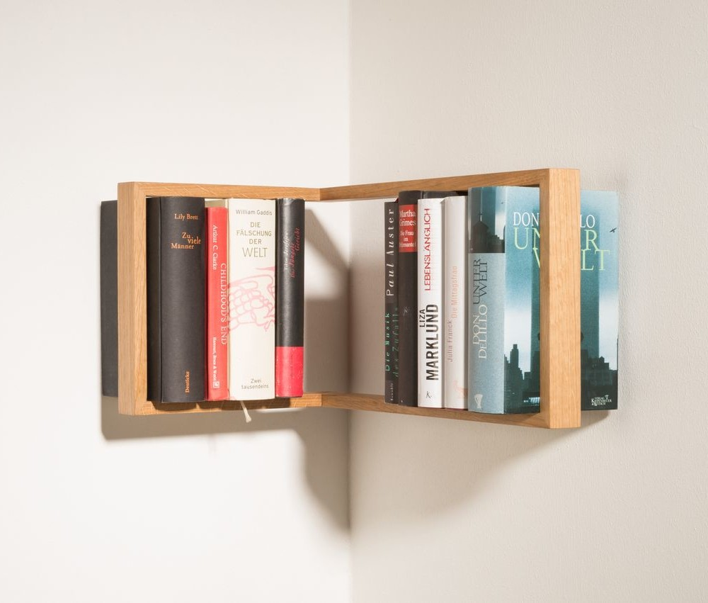Rohová polica na knihy das kleine b b1, výška22cm