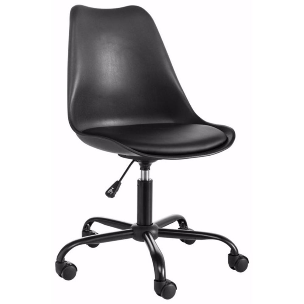 Čierna nastaviteľná kancelárska stolička Støraa Dan