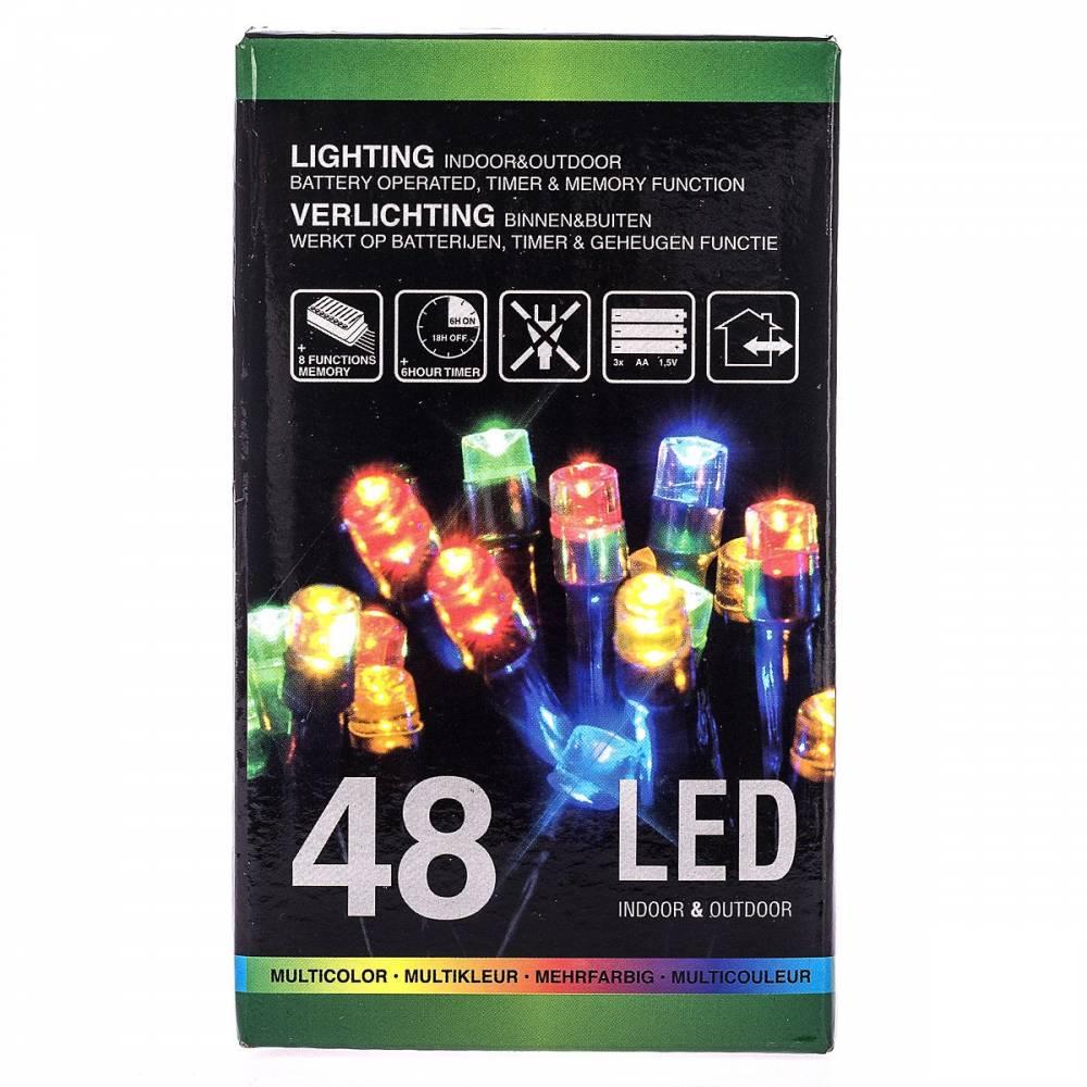 Vianočná svetelná reťaz, farebný, 48 LED, 402,5 cm