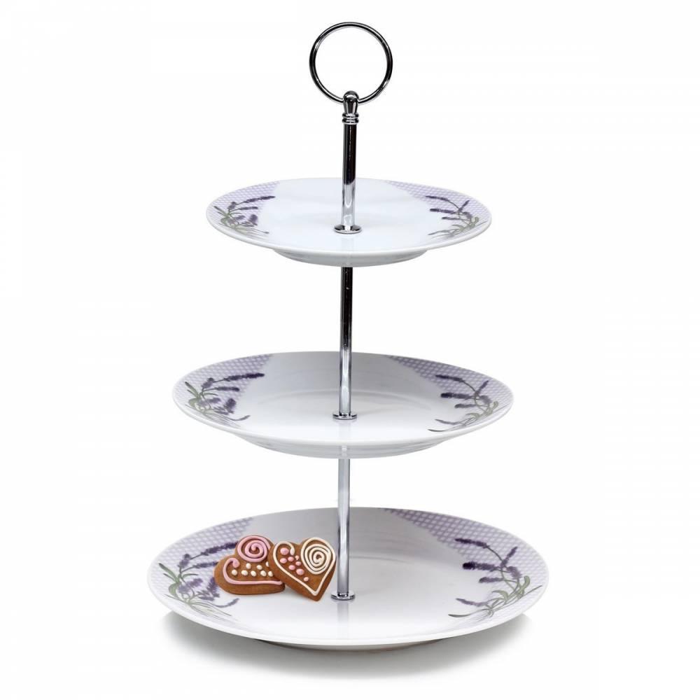 Banquet Lavender 3-poschodový stojan na cukrovinky,