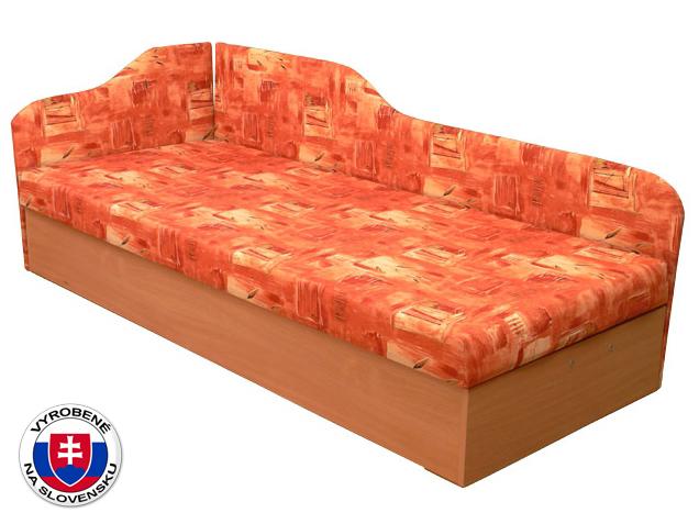 Jednolôžková posteľ (váľanda) 80 cm Edo 4/2 (s pružinovým matracom) (L)
