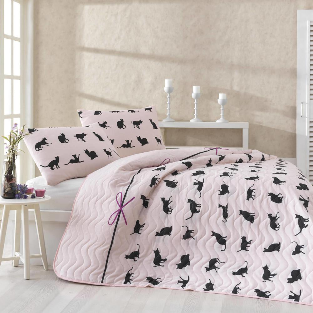 Set prikrývky a obliečok na vankúše Cats, 200x220 cm