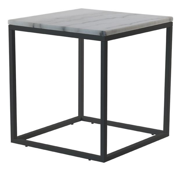 Mramorový konferenčný stolík s čiernou konštrukciou RGE Accent, 55 x 55 cm