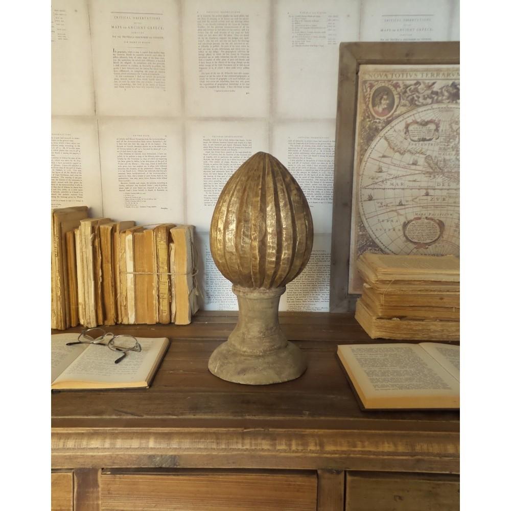 Dekorácia z mangového dreva Orchidea Milano Pinecone, výška 30 cm