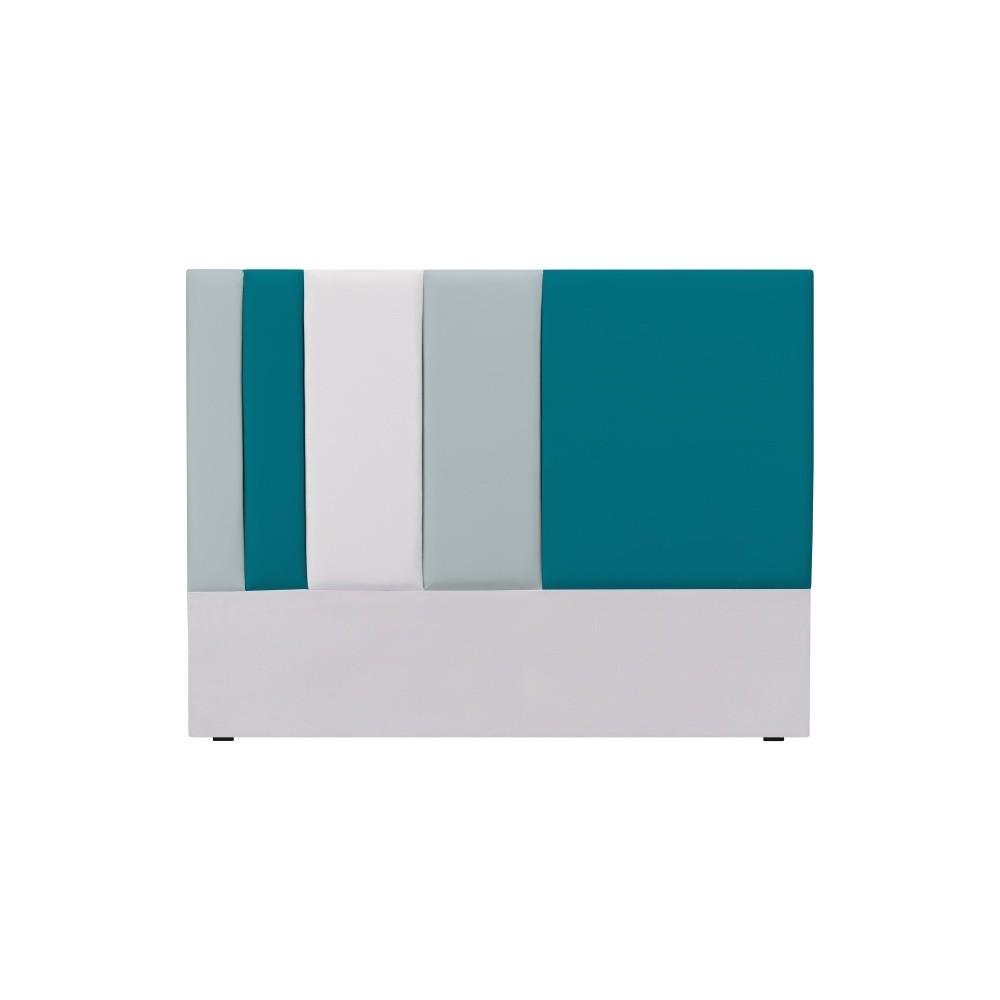 Sivo-tyrkysové čelo postele Mazzini Sofas Dahlia, 120 × 140 cm