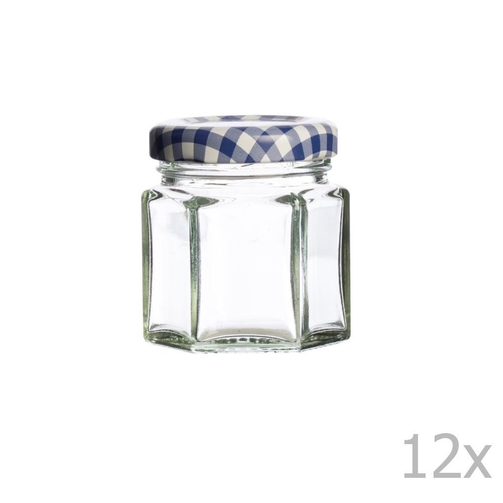 Sada 12 zaváracích pohárov Kilner Hexagonal, 48 ml