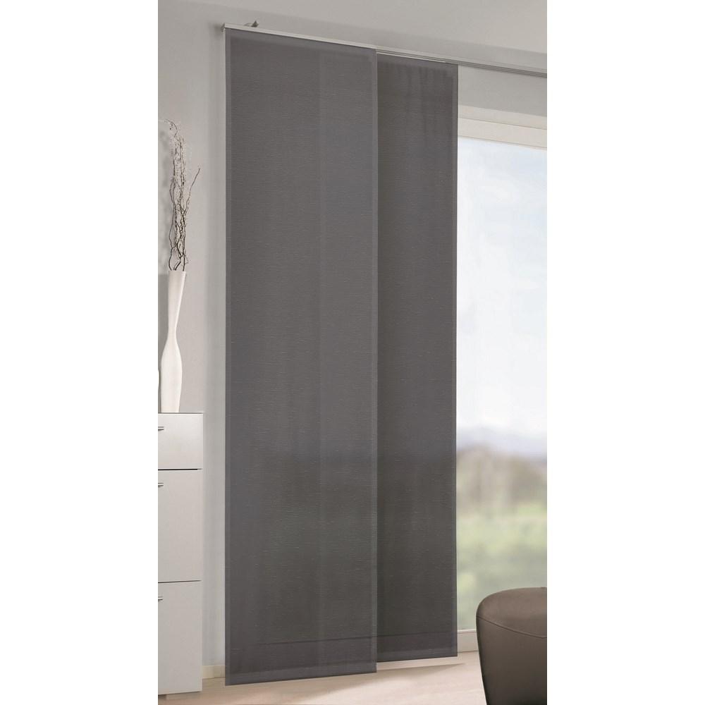 Albani závesový panel voál Conny pruhy tmavosivá, 245 x 60 cm