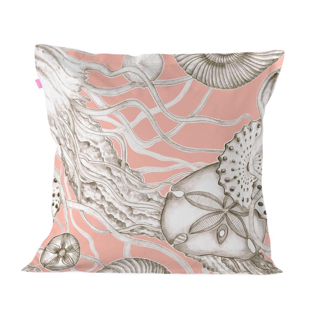 Obliečka na vankúš z čistej bavlny Happy Friday Coral Reef, 60 x 60 cm