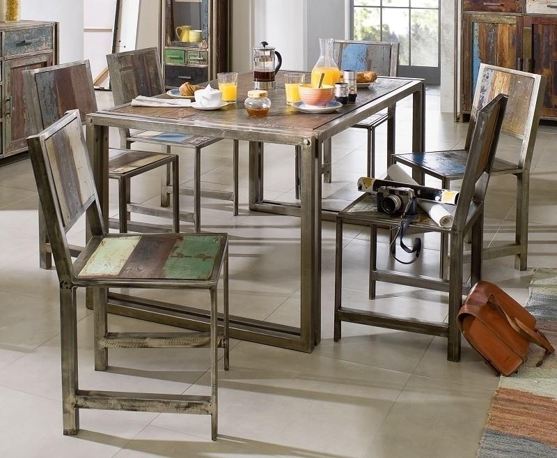 NEW YORK jedálenský stôl #16 - 150x90cm staré lakované indické drevo