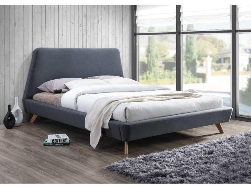 GRANT čalúnená posteľ, šedá