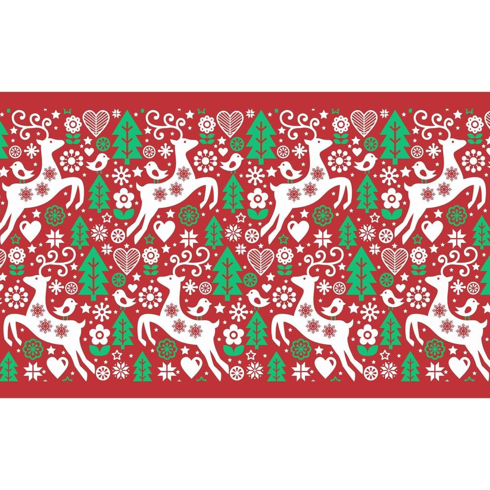 Kuchynský behúň Crido Consulting Christmasy Rouge, dĺžka 100 cm