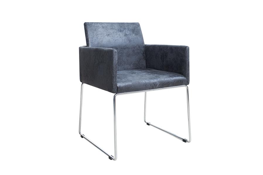 Stolička LAVORNA - antická sivá