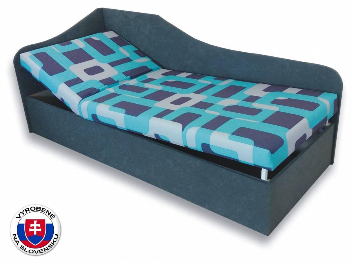 Jednolôžková posteľ (váľanda) 90 cm Anita (Gusto 4A + Sivá 81) (L)