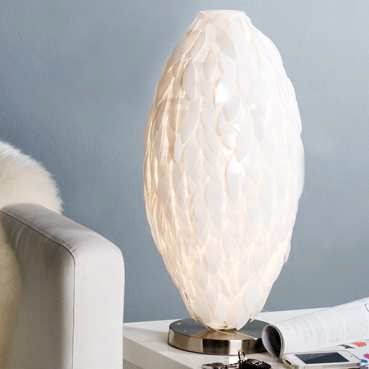 Stolná lampa LÍBIA - biela